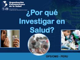 INVESTIGACION EN SALUD . AVL