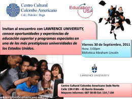 Encuentro con Lawrence University in Cali