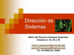 Dirección de Sistemas