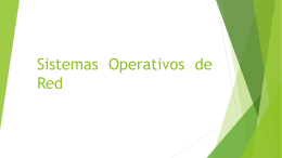 Sistemas Operativos de Red.