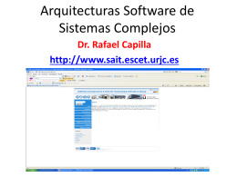 Arquitecturas Software de Sistemas Complejos