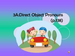 Using Direct Object Pronoun