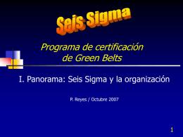 Seis Sigma y la organización - pres. - Contacto: 55-52-17-49-12