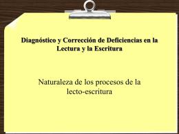 Diagnóstico y Corrección de Deficiencias en la Lectura y la Escritura