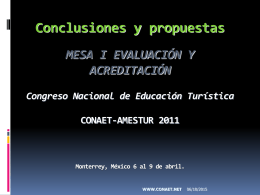 CONCLUSIONES I EyA 2011