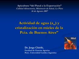 Miel - Ministerio de Salud de la Provincia de Buenos Aires