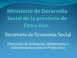 Ministerio de Desarrollo social de la provincia de Entre Ríos