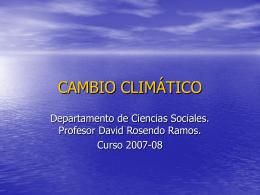 CAMBIO CLIMÁTICO - IES Sierra de Líjar