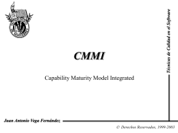 El modelo de capacidad y madurez integrado CMMI
