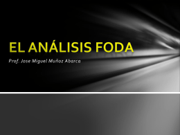 El análisis FODA - Colegio Nuestra Señora