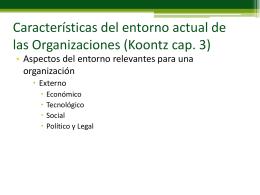 Características del entorno actual de las Organizaciones