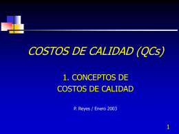 Costos de calidad - Presentación - Contacto: 55-52-17-49-12