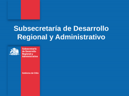 presentacion subdere - Academia de Capacitación Municipal y