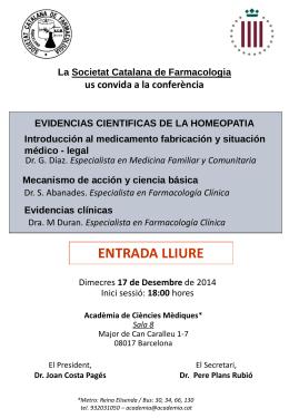 Dr. Joan Costa Pagés - Universitat de Barcelona