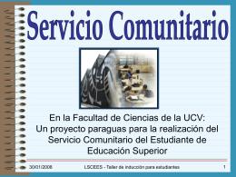 Apoyo Instrumental - Facultad de Ciencias-UCV