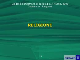 Lezione `La religione`