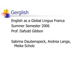 Gerglish