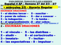Español 4 AP