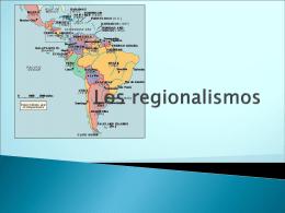 Los regionalismos