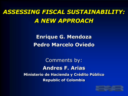 assessing fiscal sustainability: a new approach