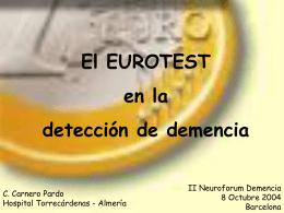 El EUROTEST en la detección de demencia