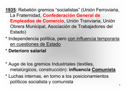 Curso sindical universitario 2014 Clase 9