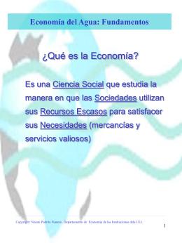 Economía del Agua: Fundamentos