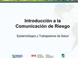 Qué es Comunicación de Riesgo?