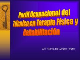 Perfil ocupacional del técnicos de enfermería en terapia física y