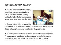 ¿qué es la terapia de arte?