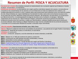 PESCA Y ACUICULTURA - Mesa de Conversaciones
