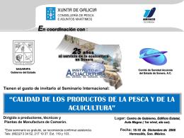 Calidad de los Productos de la Pesca y de la Acuicultura