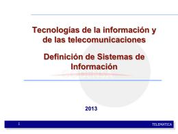 SISTEMA - Programa de TIC 2013 1