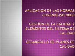 APLICACION DE LAS NORMAS ISO 9000