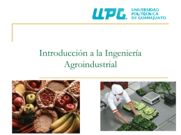 unidad 1 - Introduccion-Ing-Agroindustrial