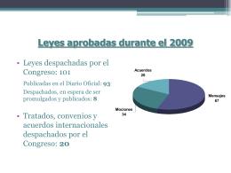 Leyes aprobadas durante el 2009