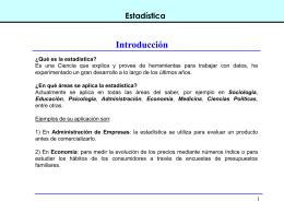 CLASE 1. Estadística