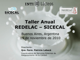 Taller REDELAC – SICECAL