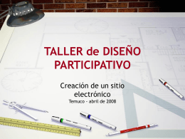 TALLER de DISEÑO PARTICIPATIVO