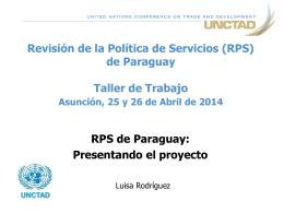 Revisión de la Política de Servicios (RPS) del Nicaragua Taller de