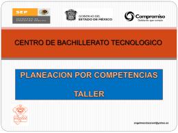Planeación - Taller CBT Tepetlaoxtoc (PowerPoint)