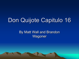 Don Quijote Capitulo 14