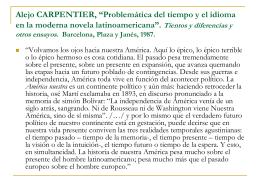 """Alejo CARPENTIER, """"Problemática del tiempo y el idioma en la"""