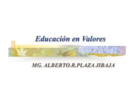 Educación en valores - mi centro educativo