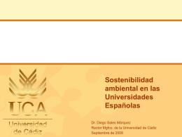 Sostenibilidad ambiental en las Universidades Españolas
