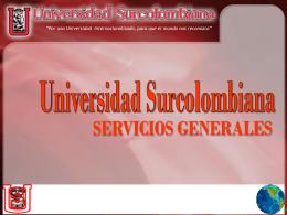 servicios generales - Facultad de Ingeniería