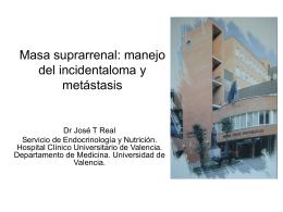 Masa suprarrenal - Sociedad Valenciana de Cirugía