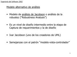 Ingeniería del Software Curso 2002-2003