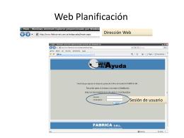 Presentación web planifiacion
