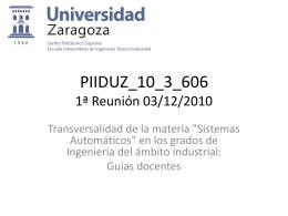 Presentación - Unizar - Universidad de Zaragoza